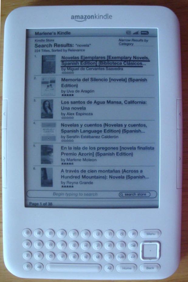 Memoria del Silencio, No. 2 en la lista de novelas en español (ebooks) en Amazon