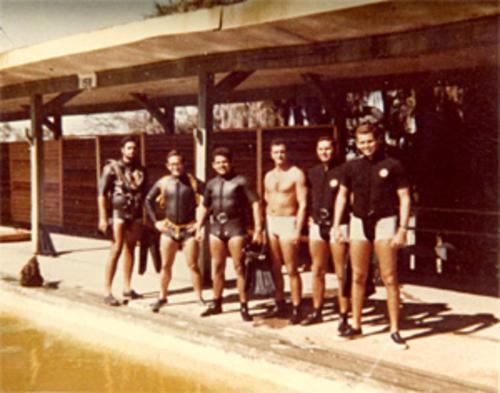 Hombres ranas Bahía de Cochinos