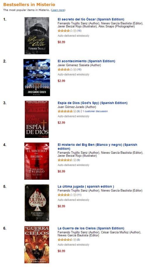 El secreto del tío Oscar, bestseller en Amazon