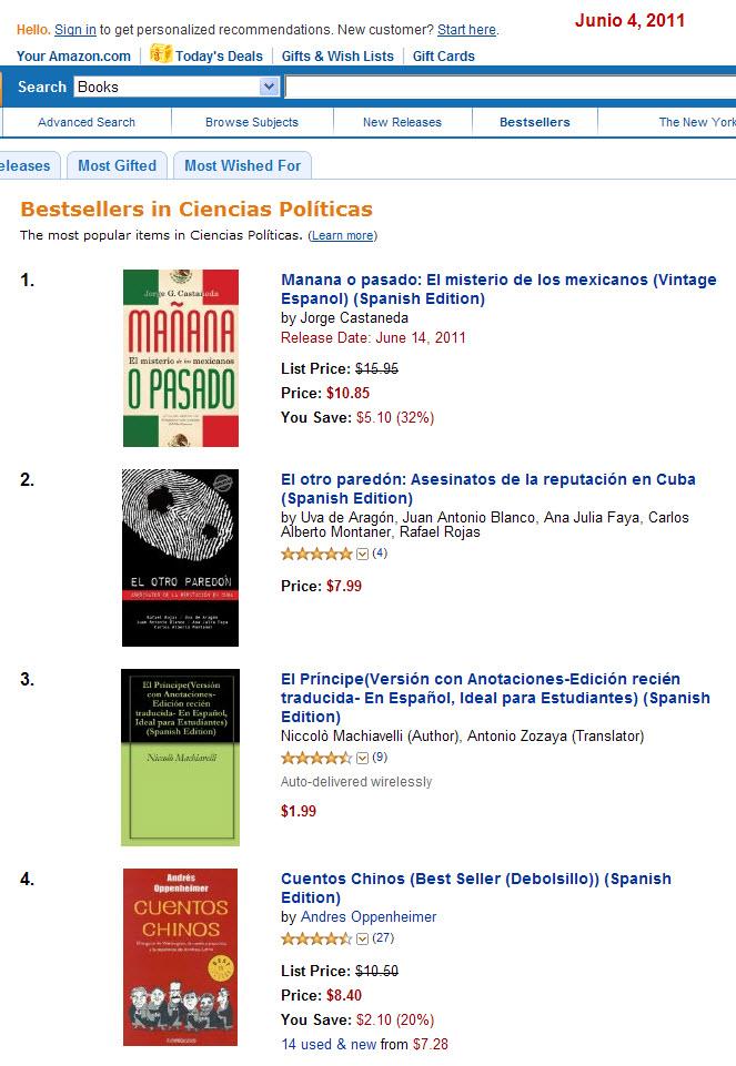 El otro paredón: bestseller enAmazon