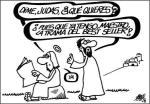 La Biblia ha sido el libro más vendido de todos los tiempos. Caricatura de Forges