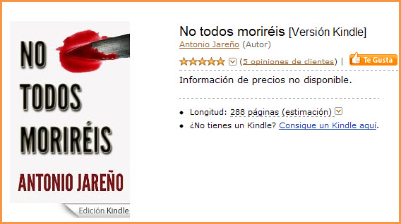 """""""No todos moriréis"""" un excelente thrillerespañol"""