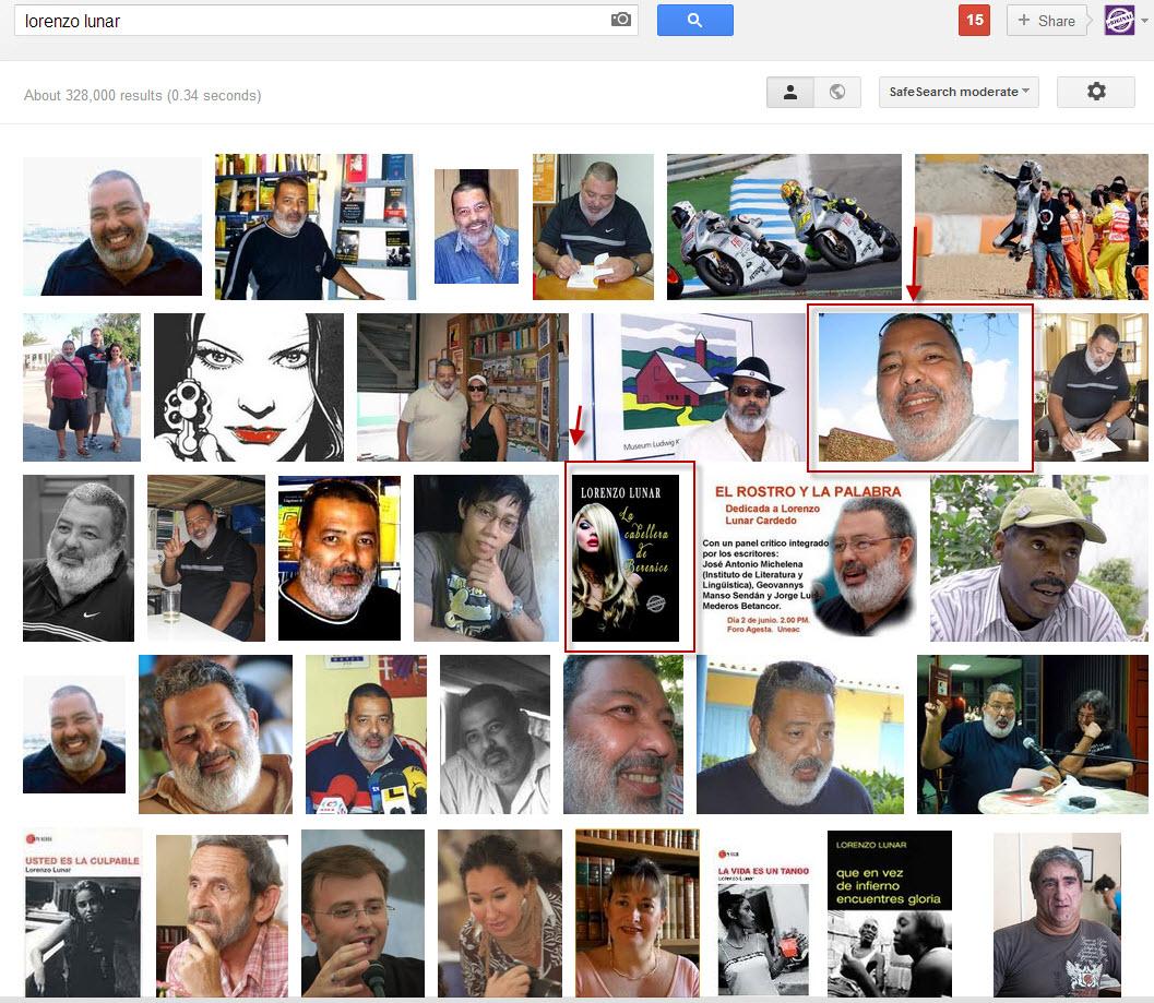 La interpretadora de sueños y Lorenzo Lunar enGoogle