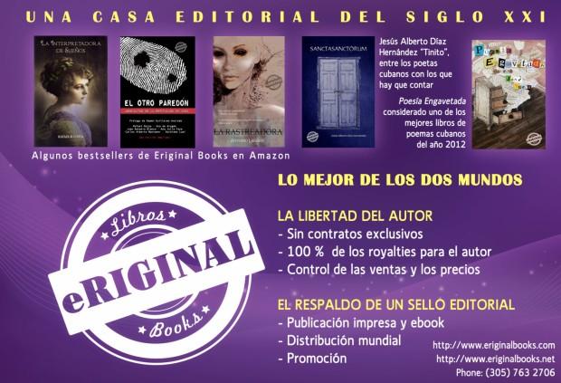 Anuncio de Eriginal Books para la revista Caritate., de la Fundación Apogeo