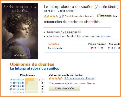 """Reseñas de """"La interpretadora de sueños"""" en Amazon España"""