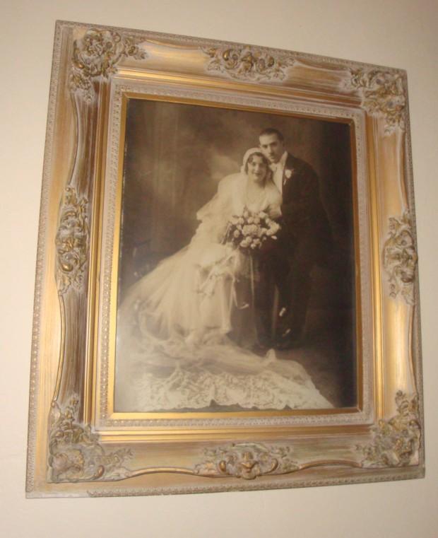 Mrs Rubens el día de su boda