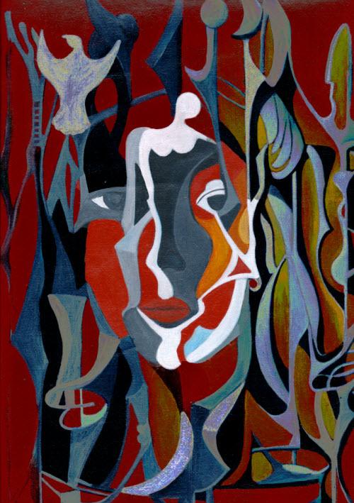 """""""Escondida en tus ojos"""" pintura de Merlys Corpas"""