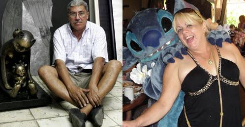 El pintor Pedro Pablo Oliva y la escritora Judith Morales