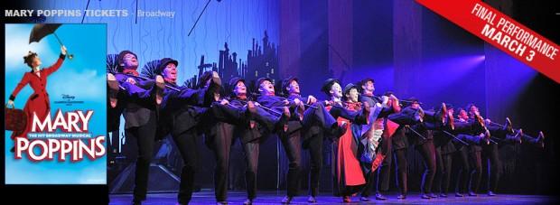 Mary Poppins es otro personaje literario con paraguas.  Los libros de P. L. Travers redoblaron sus ventas luego que fueron adaptados a un musical producido por Disney en 1964. En el 2006 se estrenó la obra teatral en Broadway que se ha mantenido en cartelera por 8 años. El próximo 3 de marzo será la última función. ¿Veremos alguna vez un film con el paraguas rojos de Jimena?