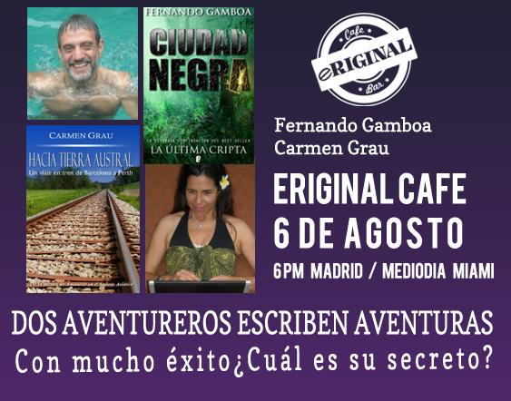 Cafe Eriginal. Carmen Grau y Fernando Gamboa