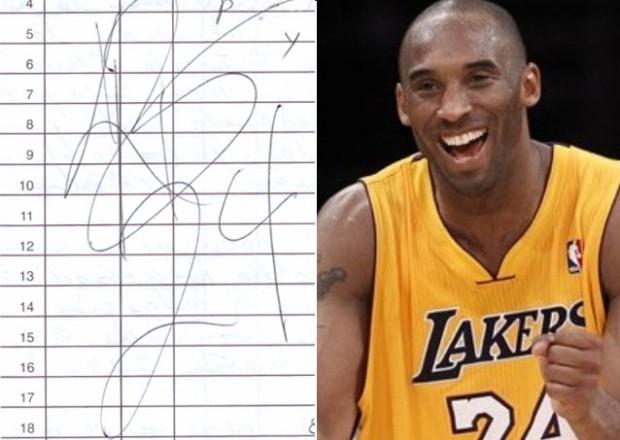 Kobe Bryant recomendó al Escritor Taxista terminar su libro y le dio su autógrafo.