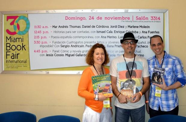 Una de las mejores cosas que me ha pasado este año es conocer en carne y hueso a tres de mis amigos virtuales: al osado Daniel De Cordoba, al ocurrente Jordi Diez y a la soñadora Mar Andres Thomas.