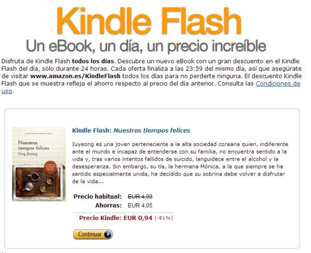 """Incongrencias en España. Usan un término inglés """"Flash"""" en vez de oferta."""