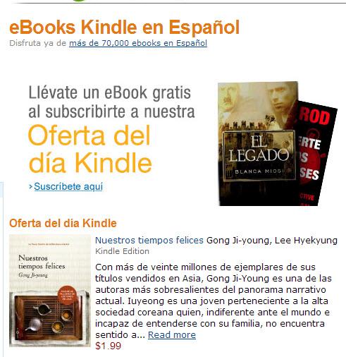 Ofertas Kindle Flash: un ebook con descuento cadadía