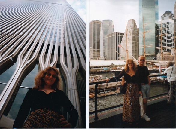 En una de mis visitas a New York. A la izquierda a los pies del World Trade Center