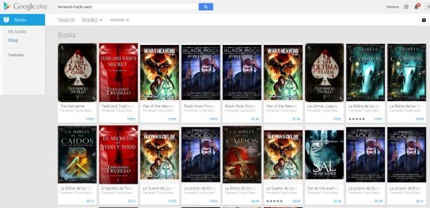 Fernando Trujillo Sanz, uno de los autores independientes en Amazon tiene todos sus libros en Google Play