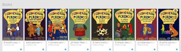 """La colección """"Y comieron perdices"""" en Google Play. La ilustradura Lourdes Bento está muy satisfecha en la manera que se empiezan a mover las ventas."""