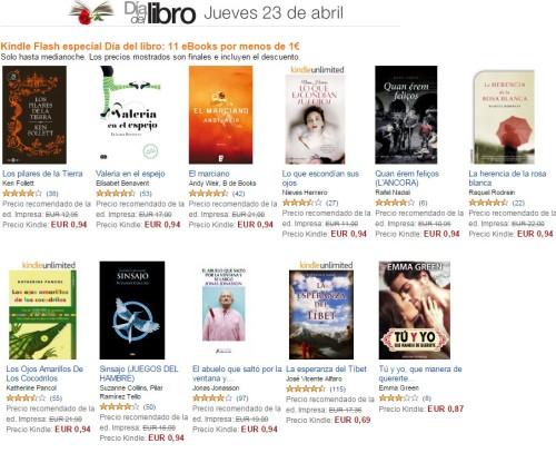 Las ofertas de libros en Amazon España en el Día de SaintJordi