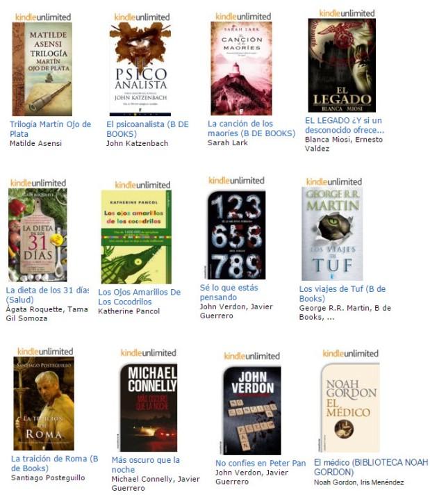 En Kindle Unlimited hay libros de autores independientes y de grandes editoriales