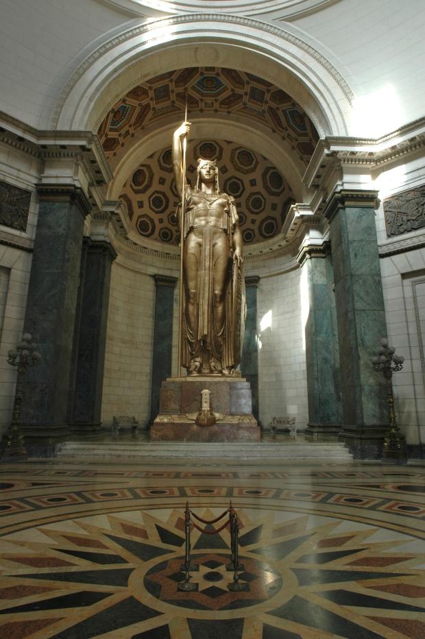 La Estatua de la República. proyectará diapositivas con fotografías nunca antes vista del Capitolio.