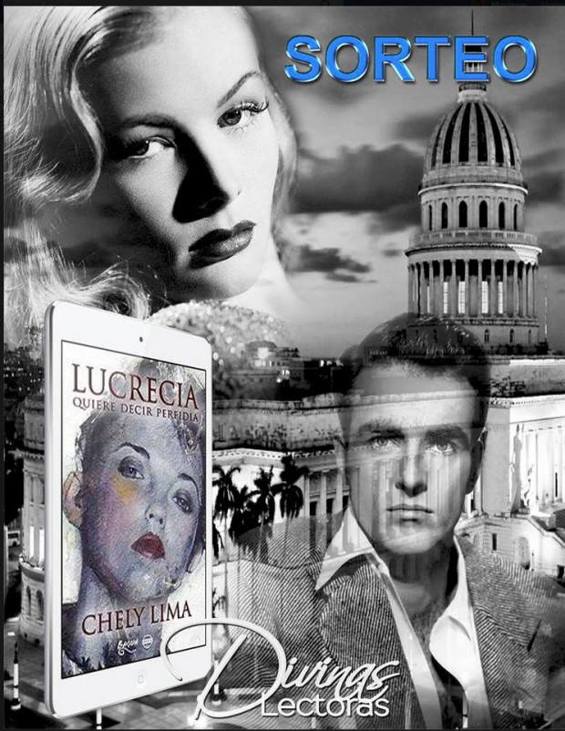 Montaje fotográfico de Cecilia Pérez para el sorteo de Lucrecia quiere decir perfidia