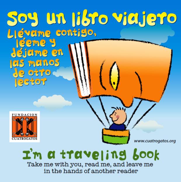 La imagen gráfica de Soy un libro viajero fue creada por el diseñador Oscar Fernández-Chuyn