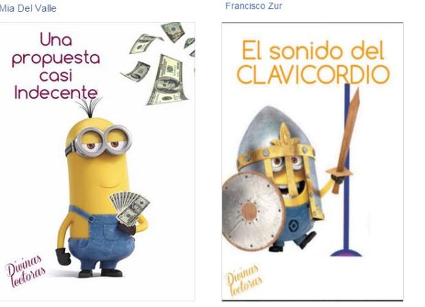 Portadas humorísticas publicadas en el grupo Divinas Lectoras