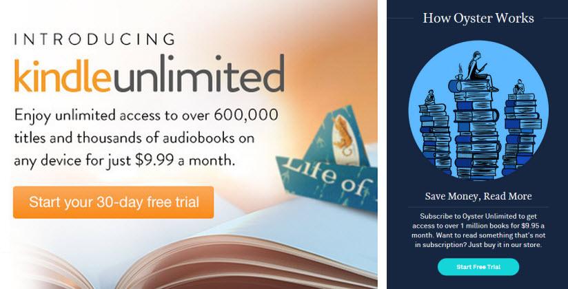 ¿Por qué Oyster cierra sus puertas y Amazon Kindle Unlimitedcrece?
