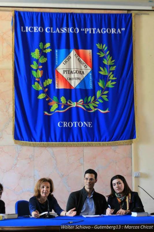 Marcos Chicot en el homenaje en Crotona