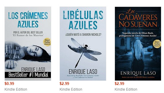 La serie Ethan Bush en los bestsellers de Amazon