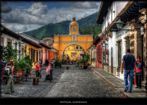 Antigua Guatemala, ciudad donde se desarrolla la novela.